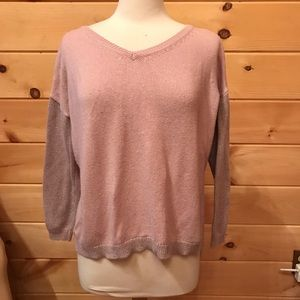 Soft Surroundings pink two-toned sweater, size PL